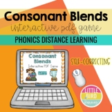 Consonant Blends Interactive PDF Game - *Distance Learning