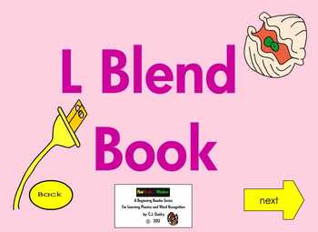 "Consonant Blends ""L Blends""  Interactive Ebook First Grade 2"