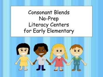No-Prep Literacy Centers: Preschool and Kindergarten: Consonant Blends