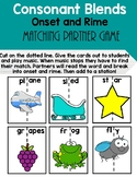 Consonant Blends Onset and Rime Matching Game