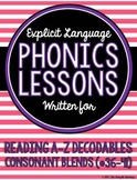 Consonant Blends Phonics Lessons for Reading A to Z Decodable Books #36-41