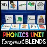 Consonant Blends Phonics Unit - Kindergarten and First Grade - Literacy Centers