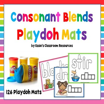 Consonant Blends Playdoh Mats