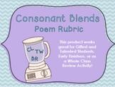 Consonant Blends Poem Rubric
