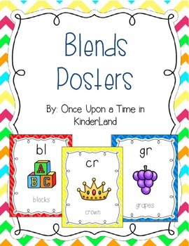 Consonant Blends Posters