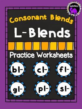 Consonant Blends Practice Worksheets: L-Blends