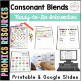 Consonant Blends Printable Intervention