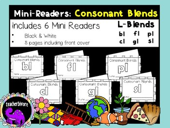 Consonant Blends Printable Mini-Readers: L-Blends
