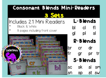 Consonant Blends Printable Mini-Readers: THE BUNDLE