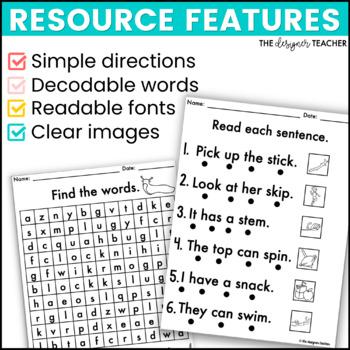 NO PREP Print & Go Consonant Blends Word Work BUNDLE