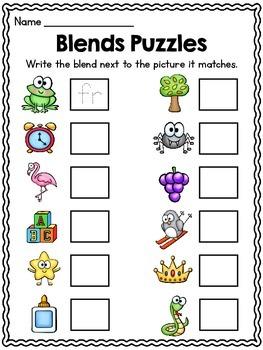Beginning Blends Puzzles Center