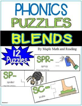 (CVC) Consonant Blends Puzzles