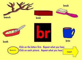 """Consonant Blends """"R Blends""""  Interactive Ebook First Grade 4"""