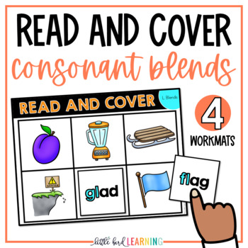 Consonant Blends Read and Cover Activity