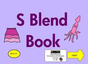 """Consonant Blends """"S Blends""""  Interactive Ebook First Grade 3"""