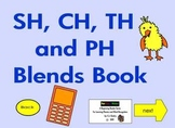 "Consonant Blends ""SH, CH, TH, and PH Blends""  Interactive Ebook First Grade 6"