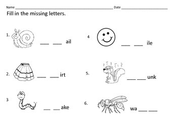 Litearcy Centers: Consonant Blends: SM, SN, SK, SP