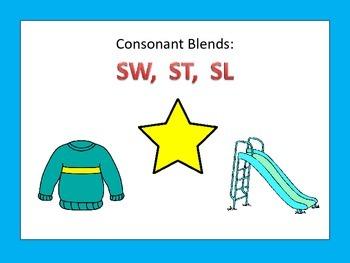Literacy Centers: Consonant Blends: SW ST SL