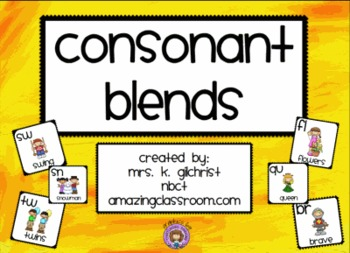 Consonant Blends Smartboard Lesson - SMART Notebook