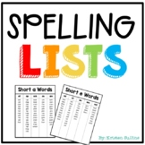 Consonant Blends Spelling Lists