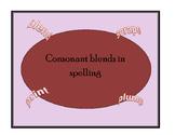 Consonant Blends Spelling Rules
