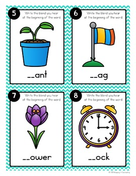 Consonant Blends Task Cards {L Blends}
