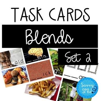 Consonant Blends Task Cards- Set 2
