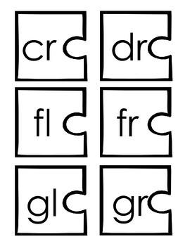 Consonant Blends & Word Families:  Word Builder Puzzle Pieces