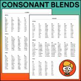 Consonant Blends Word Lists