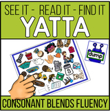 Consonant Blends Word Recognition and Fluency YATTA -In Color and Black/White