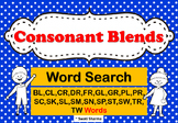 Consonant Blends Word Search