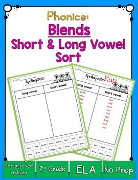 Consonant Blends: Word Sorting