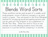 Consonant Blends Word Sorts | Orton-Gillingham Spelling List