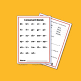 Consonant Blends: Worksheets