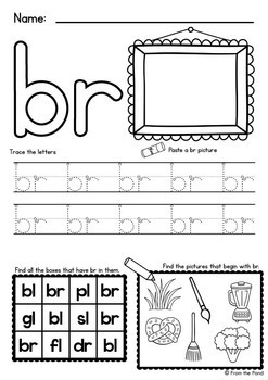 consonant blends worksheets easy prep printables by from the pond. Black Bedroom Furniture Sets. Home Design Ideas