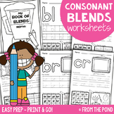 Consonant Blends Worksheets - Easy Prep Printables