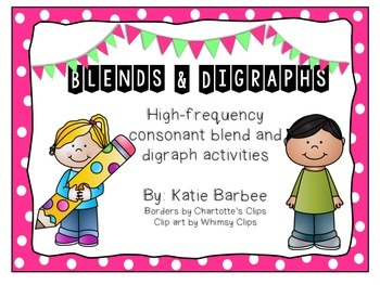 Consonant Blends and Digraphs Activity Pack