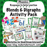 Blends and Digraphs - Response to Intervention Activity Pack