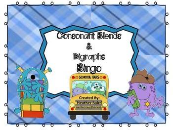 Consonant Blends and Digraphs BINGO!