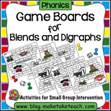 Consonant Blends and Digraphs Game Boards