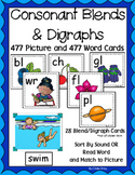 Consonant Blends and Digraphs ~ Pocket Chart Sort with Mat
