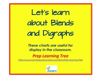 Consonant Blends and Digraphs Posters