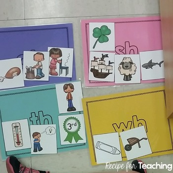 Consonant Blends and Digraphs Sort