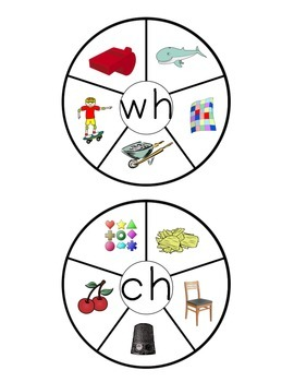 Consonant Blends and Digraphs Sound Clip Wheels