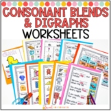 Consonant Blends and Digraphs Worksheets