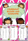 FREE Consonant Blends and Digraphs Worksheets and Assessment