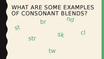 Consonant Blends at the beginning and end of a word