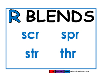 Consonant Blends blue