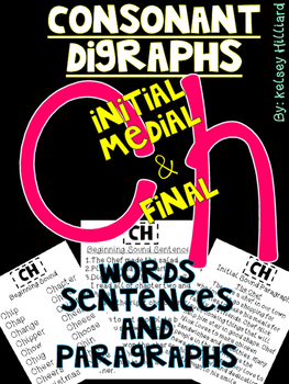 Consonant Blends (ch) sentences, words, paragraphs and more