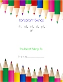 Consonant Blends: fl, cl, bl, sl, pl, and gl packet
